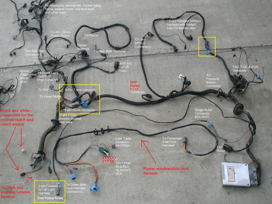 86 mustang o2 sensor wiring harness diagram  86  get free
